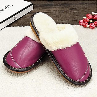 Women's red / purple /  red / rose red  winter cotton mop ladies fur slippers
