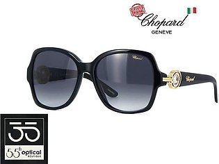 Chopard Sunglasses SCH206S 0700 Diamontes Titanium Acetate Gradient Black 23K G…