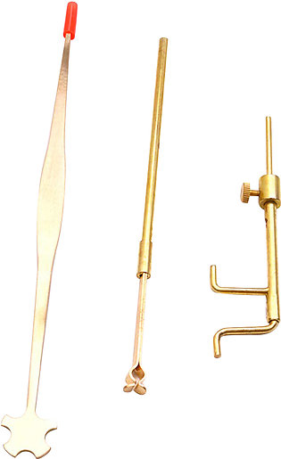 Brass Violin Luthier Tools Kit Set Sound Post Gauge Measurer Retriever Clip Set…