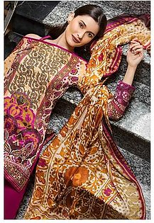 """GA - GA - Gul Ahmed-Summer Collection 2019 D.Pink Silk Collection-3 PC Unstitched-SS-164 -196015"""""""