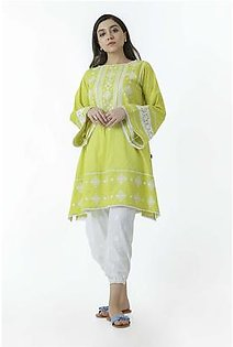 EGO Fall Collection 2019 Exotic Green Jacquard Kurti For Women