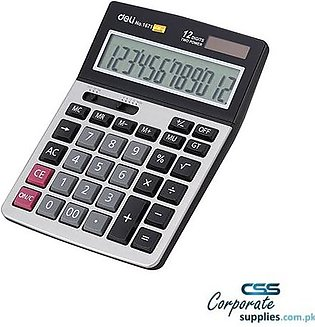 12-Digit Modern Calculator - 1671 - White
