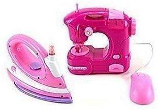 Toy Sewing Machine & Clothing Iron Combo Set - Multicolor