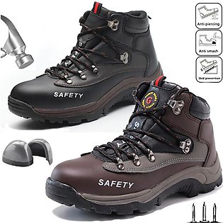 Men Safety Shoes Steel Toe Cap Work Protective Trainers Boots Hiking Shoes