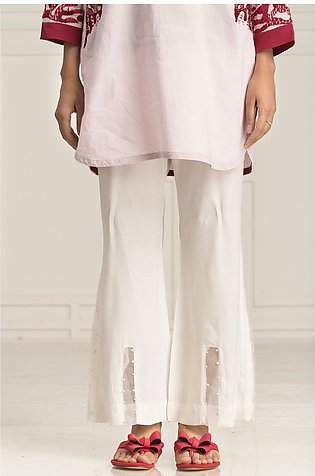BTW White Molly T Bottoms Formal Pants