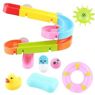 Baby Bath Toys Shower Track Slide Water Toys Baby Shower Dabbling Bathroom Assemble Toys