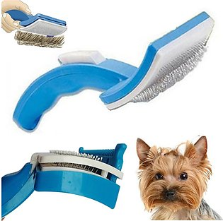 【To Global】(photo)New Pet Dog Cat Grooming Self Cleaning Brush Comb Hair Fur ...