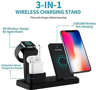 Wireless Charger Stand for Apple Watch Series 4/3/2/1 AirPods iPhone X Xs Max...