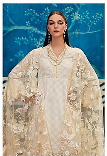 """GA - GA - Gul Ahmed-Summer Collection 2019 Off.White Embroidered Chiffon Collection-3 PC Unstitched-PM-254 -195995"""""""