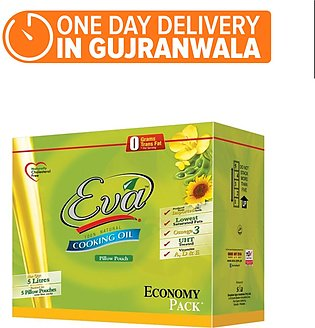 Eva Sunflower Canola Oil - Pack of 5 (One day delivery in Gujranwala)