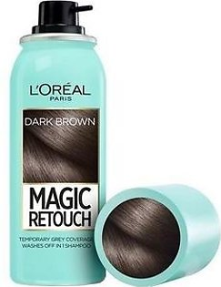L'Oreal Paris Magic Retouch Root Touch Up Hair Color Spray - Dark Brown 75ml Hair Color