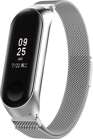 Large Milanese Magnetic Stainless Steel Watch Band Strap For Xiaomi Mi Band 3