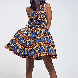 Women Dress African Long Sleeveless Dashiki
