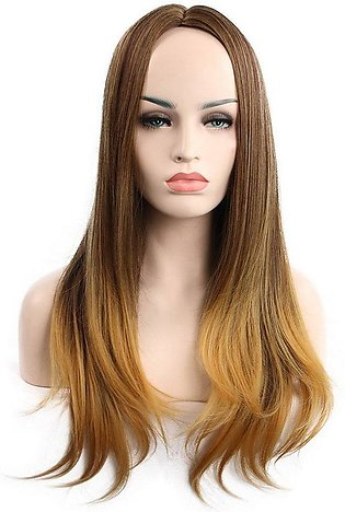Long Hair In The Bangs Natural Lifelike Fiber Wigs Straight Synthetic Hair
