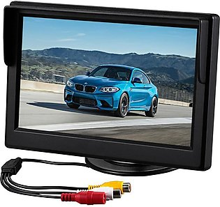 【 NEW 】 5 Inch Universal LCD Screen Display Car DVCD/DVD Player Rearview Came...