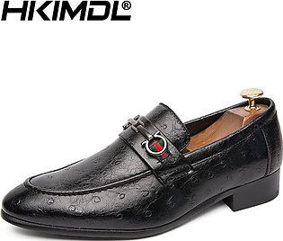 Men's Pointed-Toe Comfortable Casual Business Formal Oxford Leather Shoes Sli...