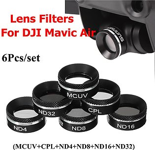 【FlexibleSupply】6 Pcs Camera Lens Filters MCUV CPL ND4 ND8 ND16 ND32 For DJI MA…