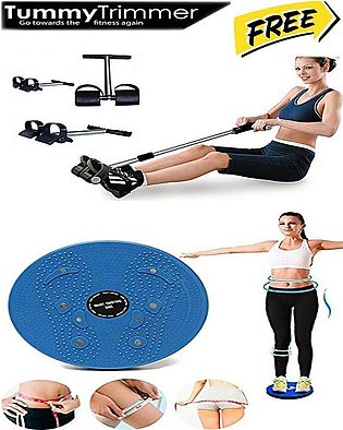 Stay Fit Tummy Trimmer with Single Spring & Weight Loss Excercise Machine Free