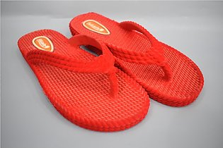 Ladies comfortable Rubber Chapal Article No 5076 Color Red