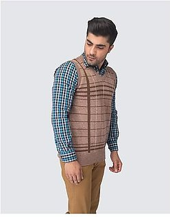 Oxford Lambswool Design Sleeveless For Men