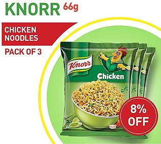 8% OFF ON KNORR CHICKEN NOODLES 66GM (PACK OF 3)