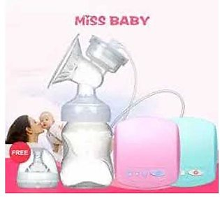 Electric Breast Pump With Milk Bottle Automatic Breast Pumps Baby Breast Feeding