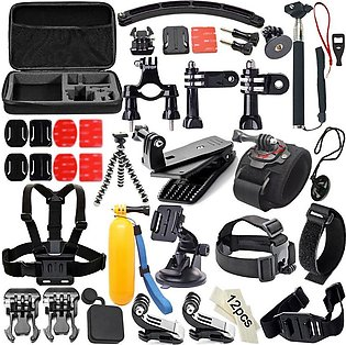 51 in 1 Sports Camera Combination Accessory Set For GoPro Hero 4/3/3+