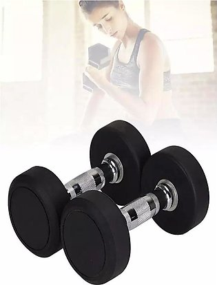 Pair Of 2KG Stylish Rubber Coated Dumbbell Fitness Home Gym Home Exercise Dum...