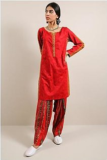 Generation-Pre Fall Collection Bead work 2 Pc Cotton Contemporary-B29281T-Maroon