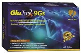 Pack of 2 Glutathione Fast Skin Whitening Tablets plus Glutax Drops