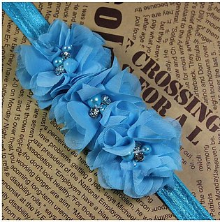 Handmade Chiffon Flower Design Headband Elastic Hairband Baby Girl Headwear
