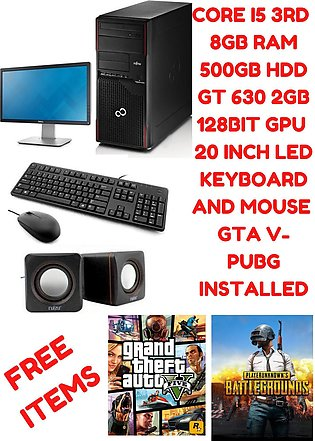 Fujitsu Tower Complete Gaming PC - Core i5 3rd Gen 8GB RAM 500GB HDD - Nvidia...