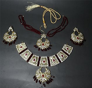 Traditional Bridal Set with Necklace Gold Plated
