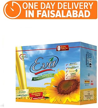 Eva Sunflower Canola Oil - Pack of 5 (One day delivery in Faisalabad)