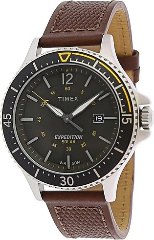 Timex Expedition Ranger Silver Leather Quartz Watch for Men-TW4B15100