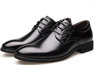 Men's Formal Dress Oxfords Leather Shoes Pointed Toe Business Casual Shoes