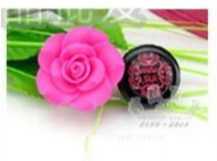 Rose Luxury Rose Contact Lens Case With Lens Holder And Tweezers For Women