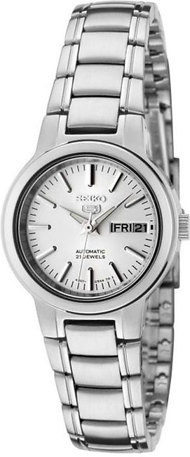 Seiko Women's SYME39K1S Seiko 5 Automatic Light Silver Dial Stainless Steel W...