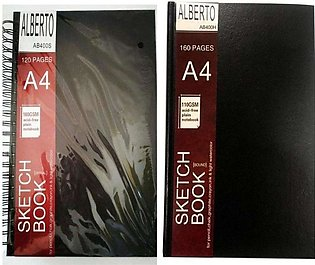 Pack Of 2 - Sketch Book Spiral And Bounded A4 Size