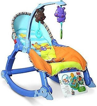 Baby Throne Infant Toddler Music Toys Cradle Rocker Kid Chair Fold Baby Cradle