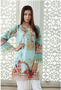 So Kamal Women EID Collection Ice Blue 1 PCS Pret - Embroidered Lawn Int:XS DPL 19-260