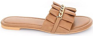 Hush Puppies - SS-SL-0067 - Camel Open Slipper for Women