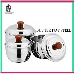 Stainless Steel Mini Pot Steel Lunch Box Set of 3