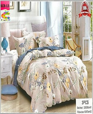 New Cotton Softy Foam Bedsheets With 2 Pillow Covers Scb-13 (R K)