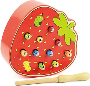 Catch Worm Magnetic Toys For Children Educational Toy Wooden Puzzle Toy