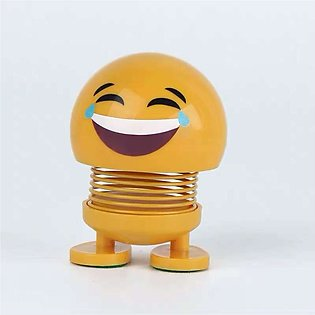 Smiling Face Spring Bouncing Doll Shake Head For Car Decoration