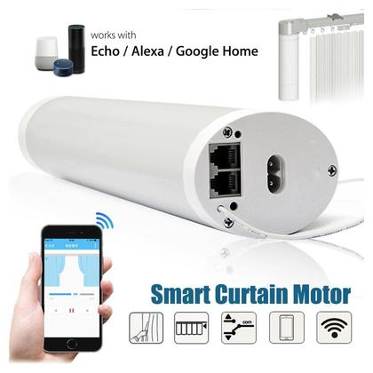 WIFI RC Smart Mute Curtain Motor APP For Echo Alexa Google Home + 3m Rail Track