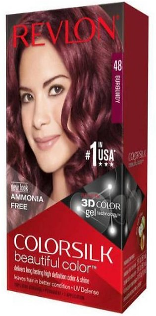 Color Silk 3D Technology USA For Men and Women No 48 Burgundy