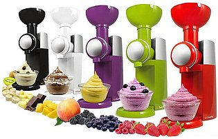DIY Ice Cream Maker Machine Portable Automatic Frozen Fruit Dessert #J