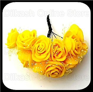 Fomic Sheet Flower – Yellow Foamic Flowers for Craft Projects and for Car Wed...